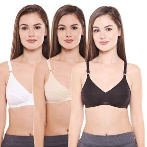 """BODY CARE COTTON BRA 6578 """"D"""" CUP PACK OF 3 Pcs"""