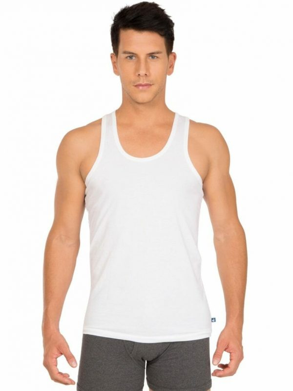 Jockey plain vests 8820_white_1