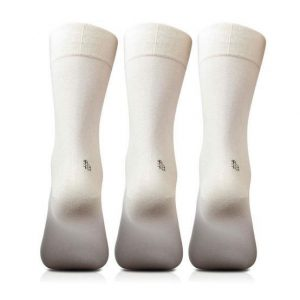 Bonjour Mens Cotton Plain Black & White Full Lenght Pack Of 3 Pcs