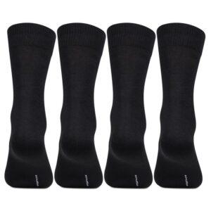 Bonjour Mens Cotton Plain Black Full Lenght Pack Of 4 Pcs