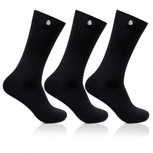 Bonjour Mens Cotton Rib Black Full Lenght Pack Of 3 Pcs