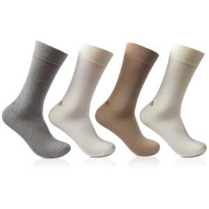 Bonjour Mens Cotton Plain Multi Colored Full Lenght Pack Of 4 Pcs