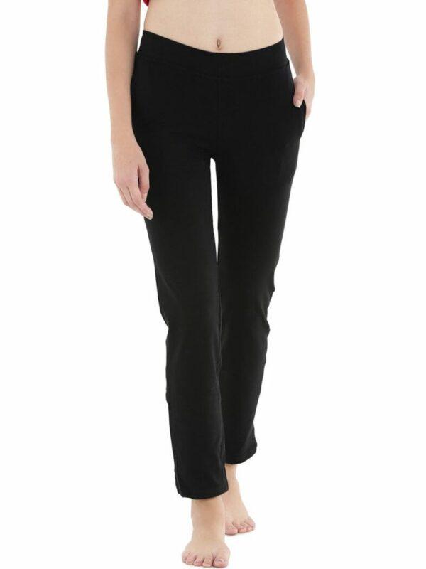 Floret-Pants In Black Color