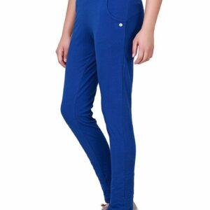 Floret Slim Fit Pants In Blue Color, P-20023