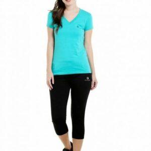 Body Active Women's Fashion Plain Black Capri LC-05