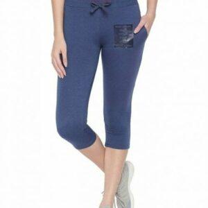 Body Active Women's Fashion Plain Denim Milange  Capri LC-05