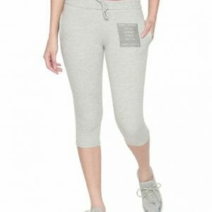 Body Active Women's Fashion Plain Gray Milange  Capri LC-05
