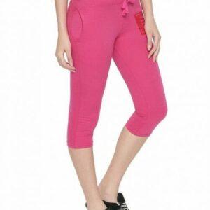 Body Active Women's Fashion Plain M.Pink Capri LC-05