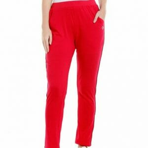 Body Active Women's Fashion Plain Red Lower LL 16
