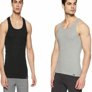 Jockey Men's Sports Vest Style 9922 In Black & Grey Color