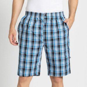 Jockey Cotton Bermuda For Men's In Check Print 9005