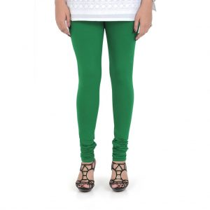 Vami Cotton Churidar Legging For Women's – Pepper Green