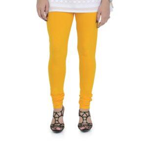 Vami Cotton Churidar Legging For Women's – Sun Flower Yellow