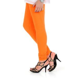 Vami Cotton Churidar Legging For Women's – Vibrant Orange