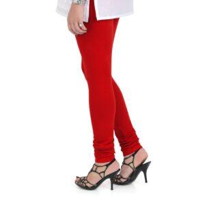 Vami Cotton Churidar Legging For Women's – True Red color