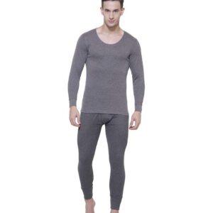 Jockey Men's Solid Thermal Wear Set Top & Lower